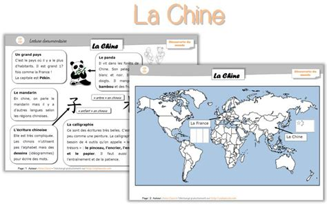 chine - Cycle 2 ~ OrphéecoleCycle 2 ~ Orphéecole