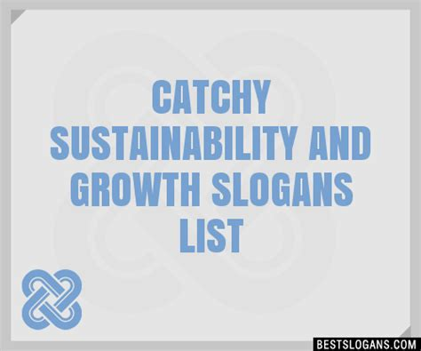 30+ Catchy Sustainability And Growth Slogans List