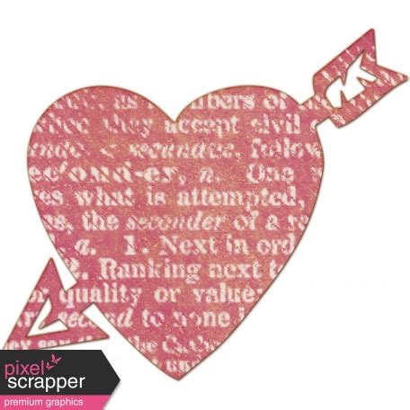 Bright Days Elements - Pink Veneer Heart Cut-Out2 graphic