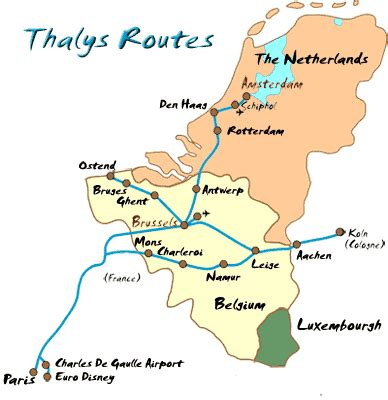 Northern Europe's Thalys Trains and Where They Go