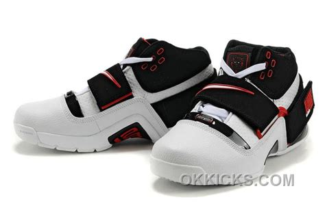 Hot Nike Zoom LeBron Soldier 1 Black White Red, Price: $72