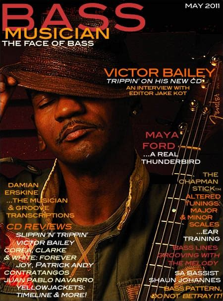 Bass Musician Magazine Featuring Victor Bailey / May 2011