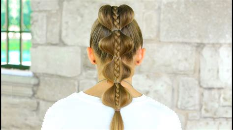 Stacked Bubble Braid   Back to School Hairstyles - YouTube