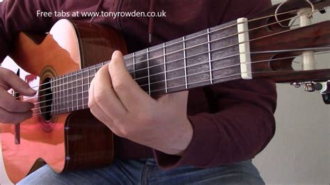 Bach - Air on the G String solo guitar - free TAB