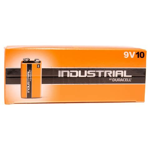 10 Piles 9V / 6LR61 Industrial by Duracell