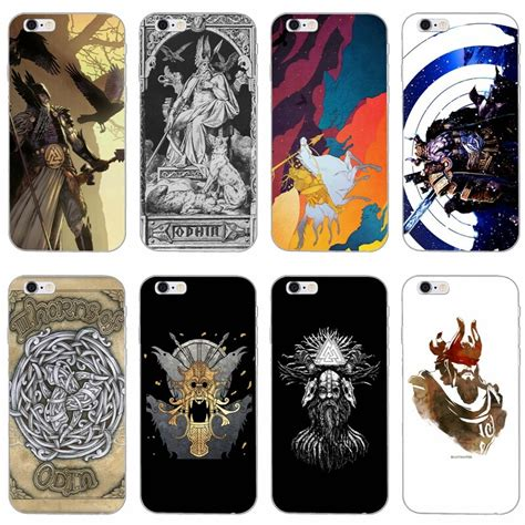 Viking warrior norse thor odin Soft phone case For Samsung