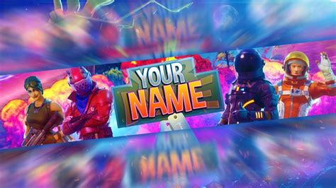 Fortnite: *FREE* Channel Art Banner Template [Photoshop