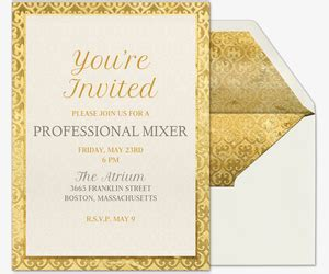 Free Corporate, Professional, & Office Event Invitations
