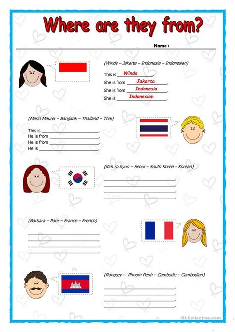 Where are they from? ~ Countries and Nationalities