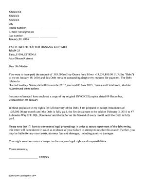 Editable without prejudice letter template uk - Fill