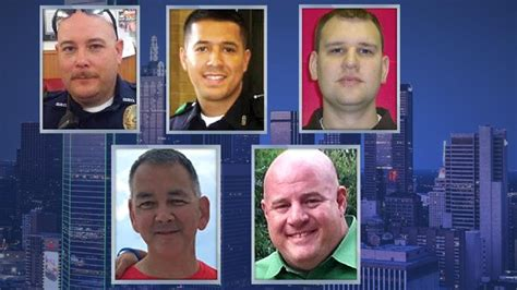 Families mourn the loss of five police officers killed in